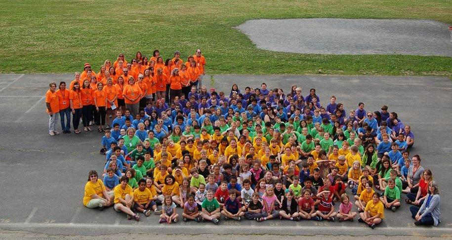 all-school photo of students and teachers, June 2018