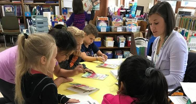 3rd graders during a guided reading lesson.